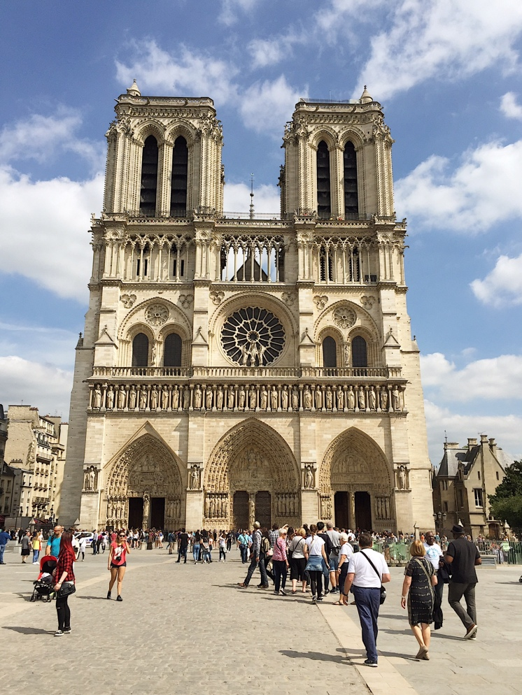 1. Paris, France. As usual, we started with a three-hour free walking tour, which also allowed us to get our bearings around the city. One of our first stops was the cathedral of the Notre-Dame de Paris, which was constructed (starting in 1163), repaired, and restored in the past few centuries.