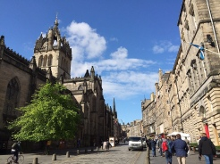 "3. Across the City Chambers is Saint Giles' Cathedral, the principal place of worship of the Church of Scotland in Edinburgh, named after its patron saint. It is not strictly a ""cathedral"", however, because it was only the seat of a bishop hundreds of years ago."