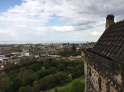 6. The view of Edinburgh from the castle.