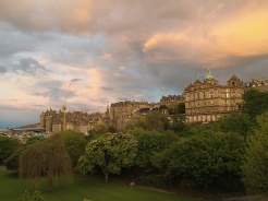 22. A view of Edinburgh, at sunset.