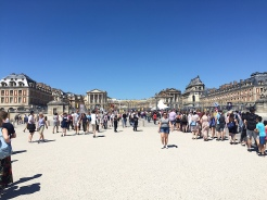 24. A mistake we made was to visit the Château de Versailles in the afternoon, when it was already crowded with other visitors. We had to wait for about 75 minutes to enter the estate, and as a result of other plans missed the visit to the gardens. The Paris Pass normally grants access to both the estate and the gardens, yet on days with the water-fountain show there is an additional charge.