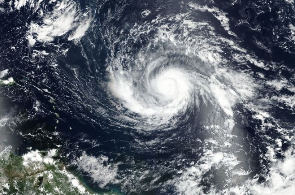 Satellite view of Hurricane Irma (Source: NASA).