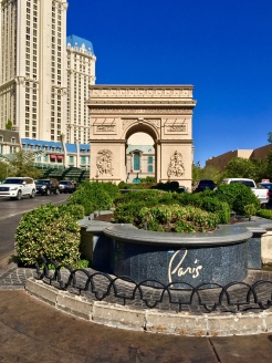 4. At the Paris Casino, replicas of some famous Parisian landmarks are on display, including the Arc de Triomphe (two-thirds the size of the actual one, as pictured) and the Eiffel Tower (one-half the size of the actual one).