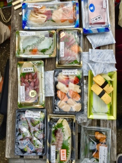 17. These are the sushi and sashimi dishes, which we had at the same picnic.