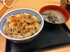 22. Gyūdon, or beef bowl, at Yoshinoya, one of the most ubiquitous fast-food chains in the country.