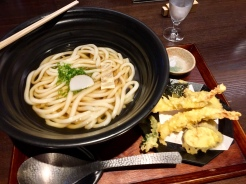 23. Delicious udon and tempura at TsuruTonTan Udon Noodle in Ginza.