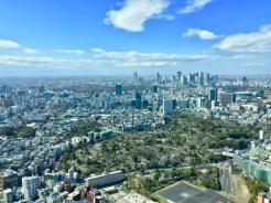 2. The view from the Tokyo City View and Sky Deck, an observatory which probably provides the best and most affordable panoramic views of the city. This is taken from the indoor City View and it is well worth the admission ticket.