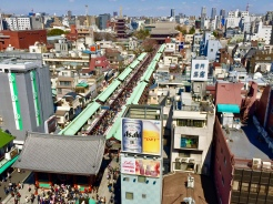 22. In Asakusa, before walking through the traditional Nakamise shopping street and getting to the Sensō-ji - one of Tokyo's oldest Buddhist temple - take in a panoramic view of both from the top of the Asakusa Culture Tourist Information Centre.