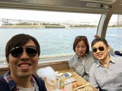 29. En route to Asakusa from Odaiba, on a Tokyo Cruise ship. Views on the ship are not necessarily impressive, even though one would be able to spot the bridges, different landmarks, and spots of cherry blossom trees along the way. The ride takes about an hour.