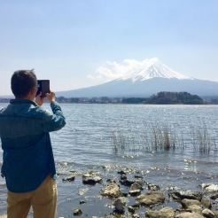 33. Dad taking in the view of Mount Fuji.