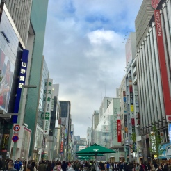 41. The shopping and entertainment district of Ginza. This was taken on a day when the streets were designated for pedestrians only.