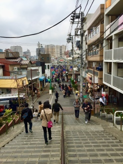 42. Made a trip to Nippori, where I walked through Yanaka Ginza - which features some elements of old Tokyo - and the Yanaka Cemetery Park (where the Tennoji Temple and the ruins of the Tennoji five-storey pagoda are located).