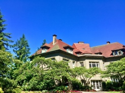 25. At the end of our one-way hike was Pittock Mansion, a 46-room house originally built as a private home. There is a fee to access the mansion, but it is free to walk around the grounds and to take in a stunning panoramic view of the city.