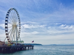 8. Upon disembarkation from the ferry, the Seattle Great Wheel is a short walk away along the waterfront.