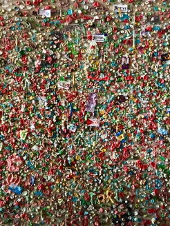 11. Another attraction at the market is the Gum Wall, where the walls are covered in used chewing gum. Great spot for photographs.